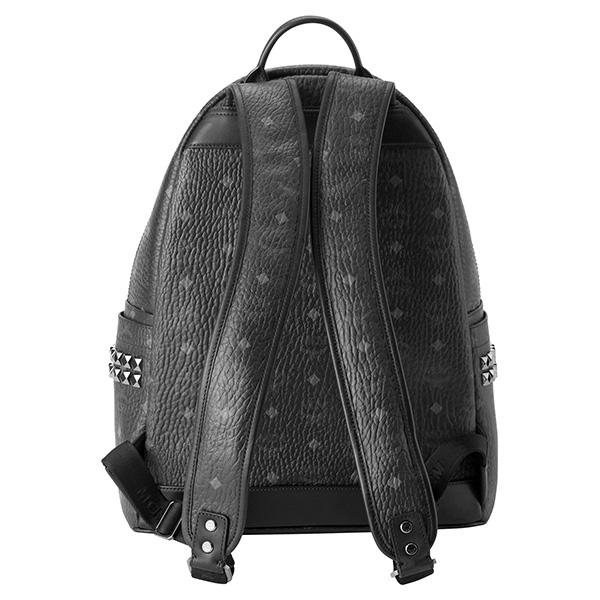 490980d50644 ブランドを象徴するモノグラムビセトスのコーティングキャンバスを使用したミディアムサイズのバックパック。両サイドのポケットについたガンメタルカラーのスタッドが  ...