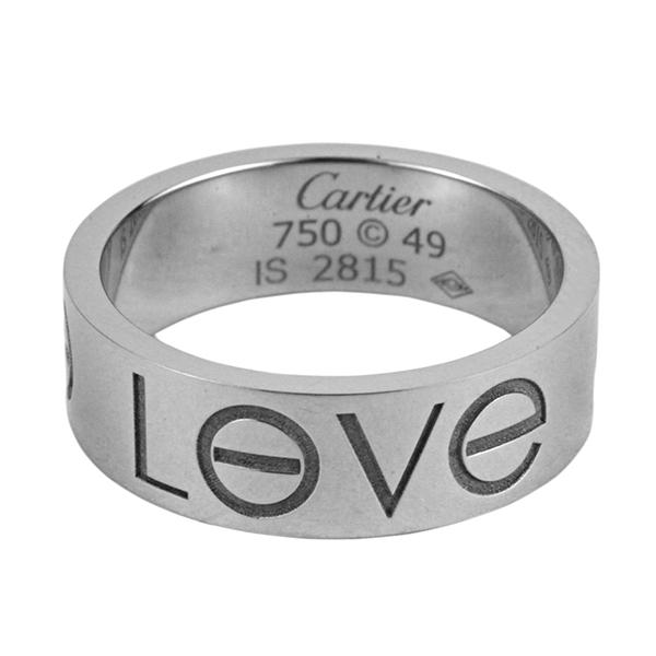 カルティエ リング CARTIER B40855 アクセサリー ラブコレクション LOVE COLLECTION LOVE Ring ラブリング(ラブロゴ)WG #49 特価 レディース ホワイトゴールド シルバー お揃い 記念日 【 カルチェ 送料無料 】