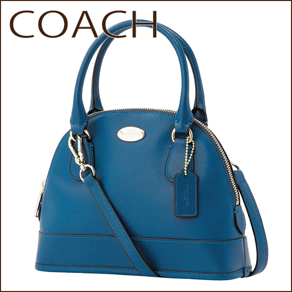 Coach Outlet Shoulder Bags F34090 Imden Bag Mini E Domed Satchel Women S Denim Blue Handbags 2 Way Simple Cute