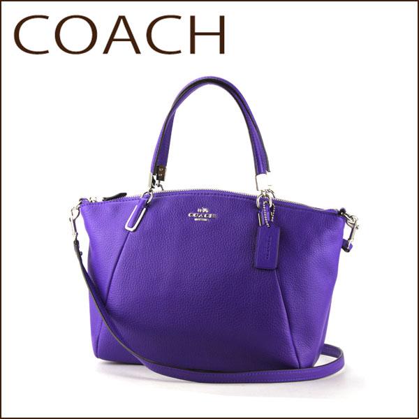 Coach Outlet Shoulder Bags F34493 Svd0g Bag Small Kelsey Women S Purple Iris Handbags 2 Way Simple Stylish Luxury