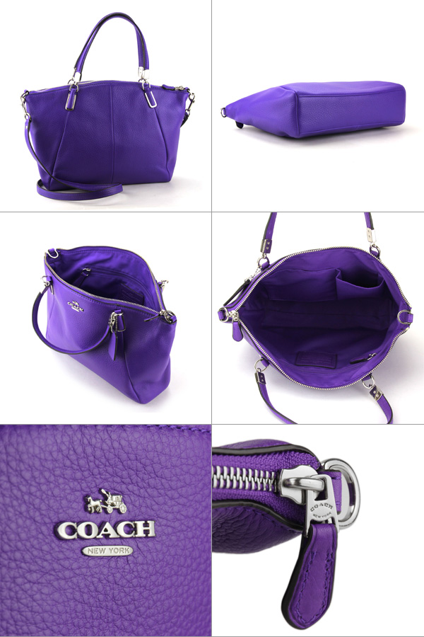 Coach Outlet Shoulder Bags F34493 Svd0g Bag Small Kelsey Women S Purple Iris Handbags 2 Way Simple Stylish Luxury
