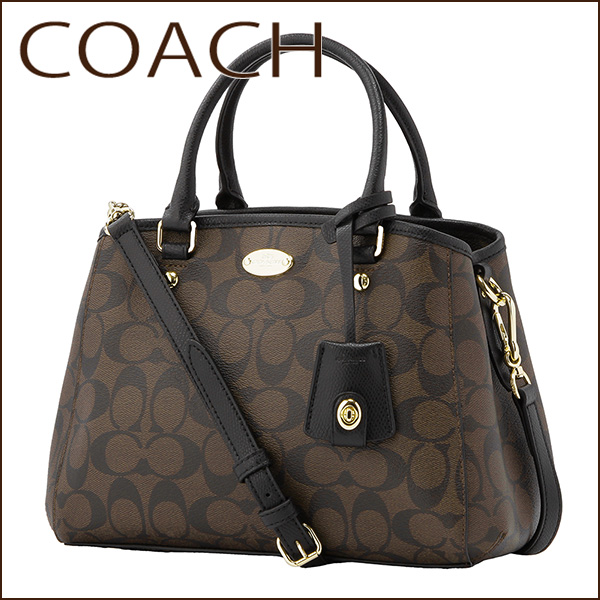 0c4cb4a35176e Coach outlet shoulder bags COACH OUTLET F34605 IMAA8 bag signature  SIGNATURE mini Margot carryall women s BLACK BROWN Black Black   Brown  handbags 2-WAY ...