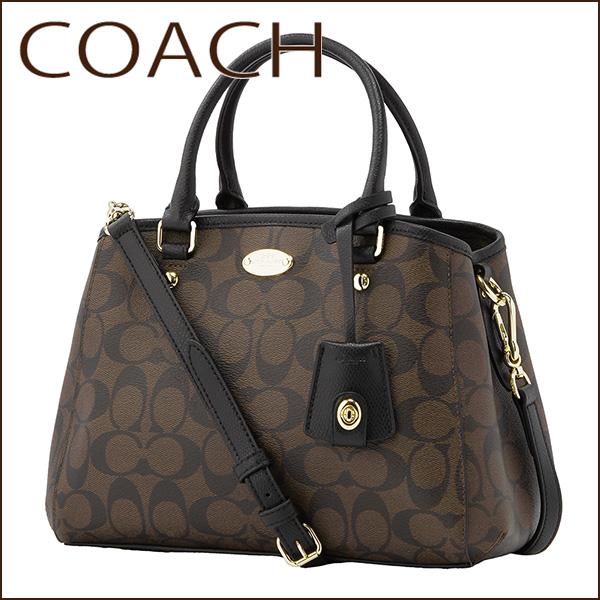 Coach Outlet Shoulder Bags F34605 Imaa8 Bag Signature Mini Margot Carryall Women S Black Brown Handbags 2 Way