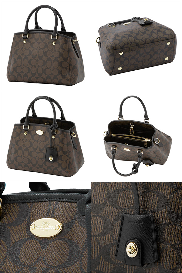1429544ffd Coach outlet shoulder bags COACH OUTLET F34605 IMAA8 bag signature SIGNATURE  mini Margot carryall women s BLACK BROWN Black Black   Brown handbags 2-WAY  ...