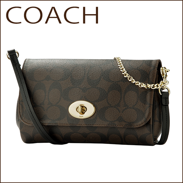Coach Shoulder Bags Outlet F34615 Imaa8 Bag Signature Mini Women S Brown Black Monogram 2way Crossbody Classic Chic