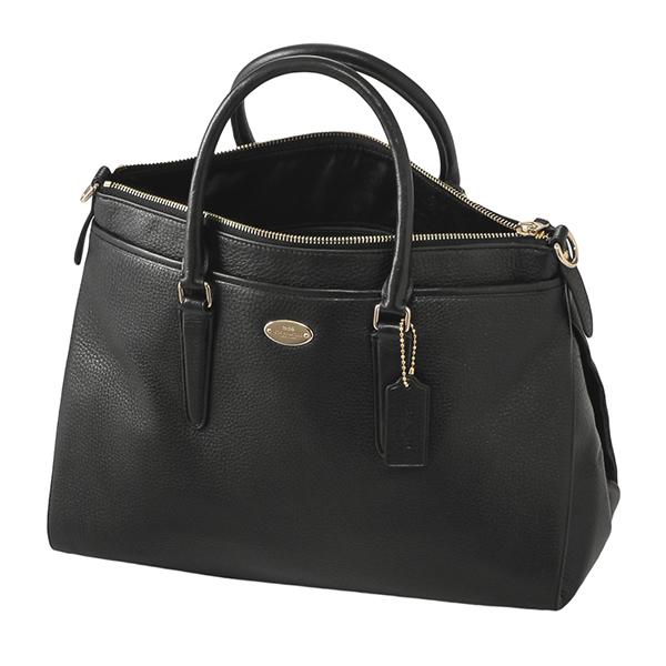 Coach Outlet Shoulder Bags F35185 Imblk Bag Morgan Satchel Las Black Handbags 2 Way Classy Elegant