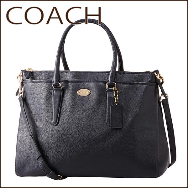 Coach Outlet Shoulder Bags F35185 Immid Bag Morgan Satchel Women S Midnight Dark Navy Blue Handbags 2 Way Classy Elegant