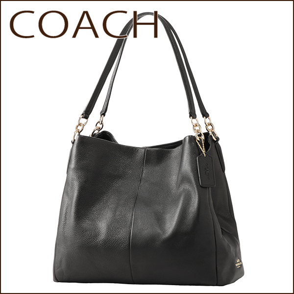 Coach Outlet Shoulder Bags F35723 Imblk Bag Phoebe Las Black Logo On Products Elegant Casual