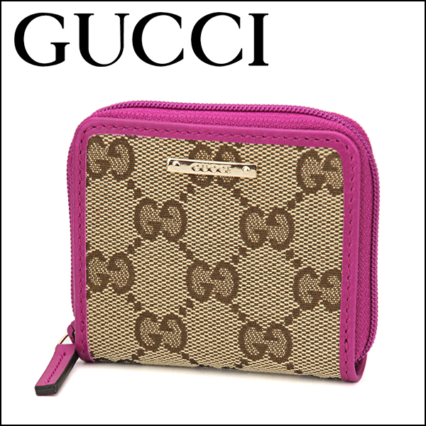 more photos 07a77 a3d56 Gucci coin case GUCCI 115255 FAFXG 8961 wallet Lady's BEIGE/PINK beige /  pink