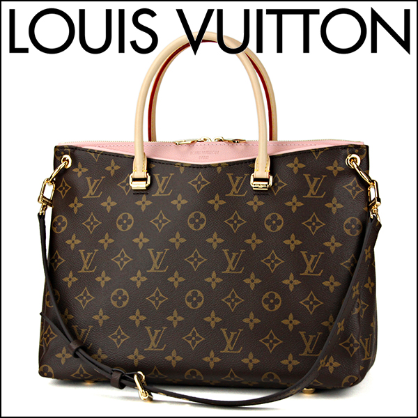 d6476ade96ca Louis Vuitton handbag M40468 Louis Vuitton bag Monogram MONOGRAM Palace  women s ROSE BALLERINA (rose ballerina) Brown   pink shoulder bag 2-WAY  classy ...