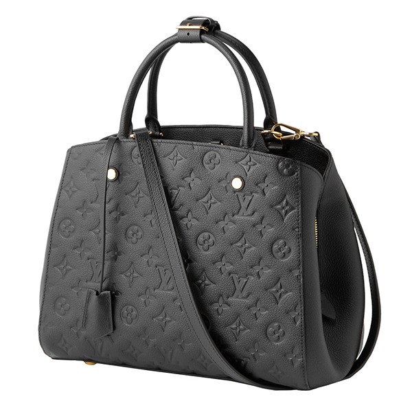 7d61a3891d58 Louis Vuitton handbag Louis Vuitton M41048 bag monogram amplifier Lunt  MONOGRAM EMPREINTE Montaigne MM Lady s NOIR (ノワール) black black logo gold  3WAY ...