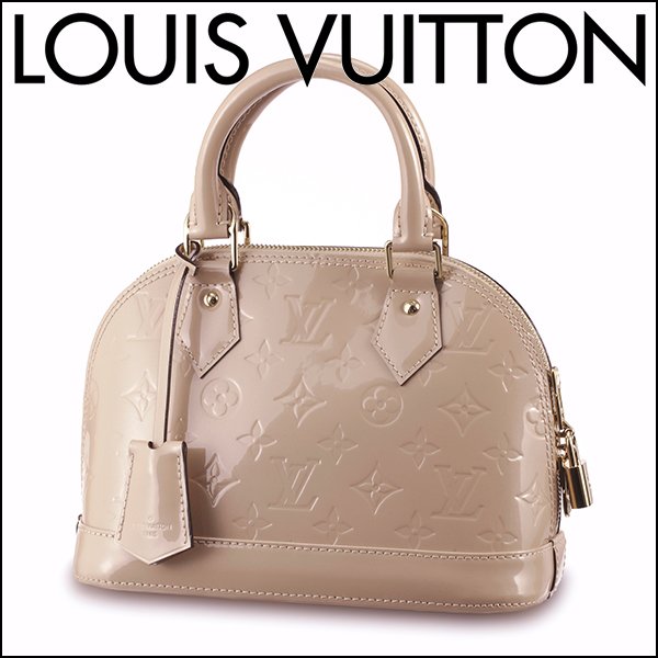 78e4712eb69 Louis Vuitton handbag Louis Vuitton M90175 バッグモノグラムヴェルニ MONOGRAM VERNIS Al  Mar BB Lady's DUNE (デュンヌ) beige