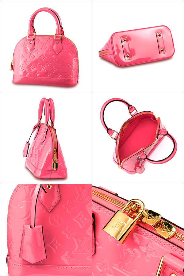 54733e7a14f3 Louis Vuitton Louis Vuitton Monogram Vernis MONOGRAM VERNIS Alma BB M90259  bag handbag ladies ROSE LITCHI (rose  amp  rich) pink enamel 2WAY