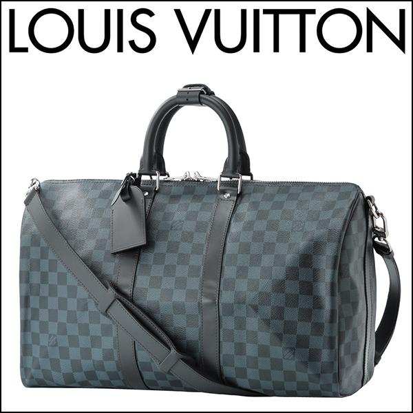 Louis Vuitton Boston Bag N41349 Damier Cobalt Keepall Bandy Ale