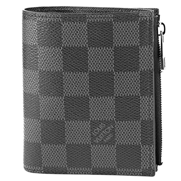 ルイヴィトン 2つ折り財布 Louis Vuitton N64021 財布 ダミエ グラフィット DAMIER GRAPHITE ポルトフォイユ・スマート メンズ BLACK/GRAY ブラック 黒/グレー【 送料無料】