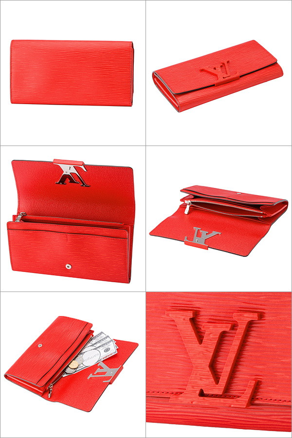 brand new 7d0f1 f4e5e Takeru Louis Vuitton wallet Louis Vuitton M60766 wallet Eppie EPI ポルトフォイユ  Louise Lady's COQUELICOT (body Rico) red red