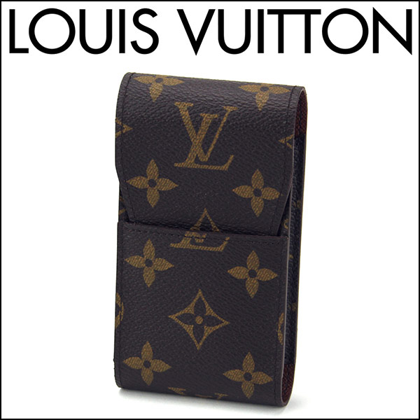 ルイヴィトン シガレットケース Louis Vuitton M63024 ブランド小物 モノグラム エテュイ シガレット ユニセックス モノグラム ダークブラウン【 送料無料】