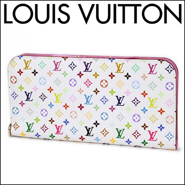 루이비통 장 지갑 (라운드 패스너) Louis Vuitton M93751 지갑 모노 그램 멀티 컬러 포 이유 アンソリット 여성용 리치 핑크/화이트 화이트