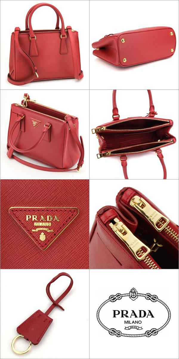 Prada PRADA saffiano Lux SAFFIANO LUX BN2316 bag handbag ladies FUOCO  (fiocco) Red Red shoulder bag 2-WAY b18830b3c9267