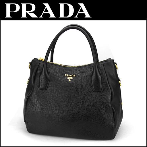 089364ea1908 Prada PRADA handbag bag Vitter Dino VITELLO DAINO BR4992 ladies NERO Black  Black 2-way ...