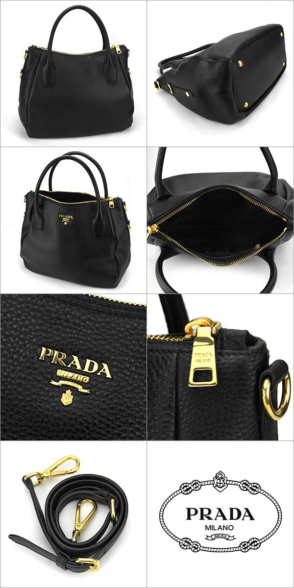 72e1af6c7796 ... Prada PRADA handbag bag Vitter Dino VITELLO DAINO BR4992 ladies NERO  Black Black 2-way