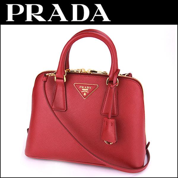 Prada PRADA saffiano Lux SAFFIANO LUX BL0838 NZV F068Z bag handbag ladies  FUOCO (fuoco) Red Red shoulder bag 2-WAY 80f05900e1d28