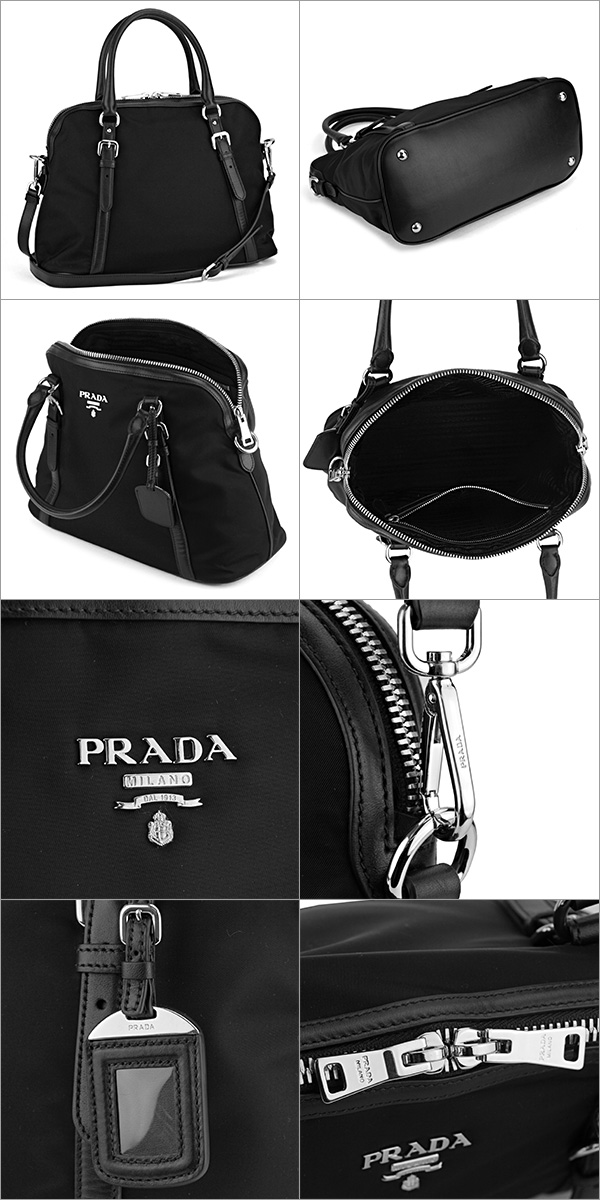 0c1d4978b2 Prada handbags PRADA BL0912 QXO F0002 bag testosoftcarf TESSUTO SOFT CALF  women s NERO (Nero) black black shoulder bag 2 WAY A4 storage can be simple  chic