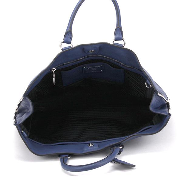 Prada handbags PRADA BN2419 2E8KF0016 bag Vitter Phoenix VITELLO PHENIX ladies BLUETTE (bluett) Blue Blue B4 size can be stored 2-WAY travel travel casual chic luxury