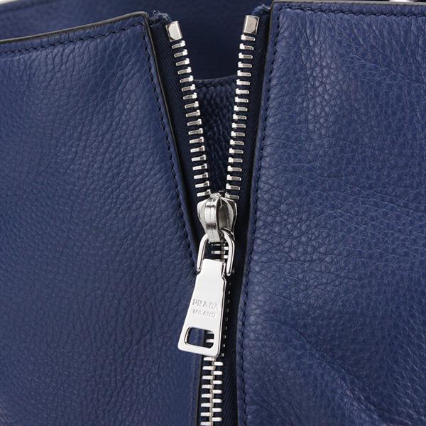 能收藏普拉达手提包PRADA BN2419 2E8K F0016 bagguvitterofenikkusu VITELLO PHENIX女士BLUETTE(buruetto)蓝色青B4尺寸,2WAY旅行旅行休闲的高雅奢华