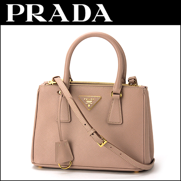 Prada PRADA saffiano Lux SAFFIANO LUX BN2896 NZV F0770 bag handbag ladies CAMMEO (cameo) beige shoulder bag 2-WAY