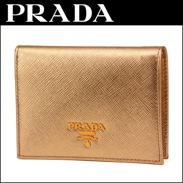 b47eb32d681f プラダ(PRADA)サフィアーノメタルSAFFIANOMETAL1MV204QWAF0522財布2つ折り財布メタルロゴコンパクトミニ華やかゴージャス
