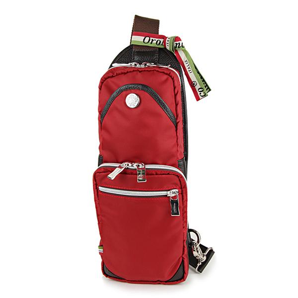 オロビアンコ ウエストバッグ・ボディバッグ Orobianco GIACOMIO 13-H 03 バッグ ナイロン NYLON ジャコミオ メンズ ROSSO(ロッソ) レッド 赤 スリングバッグ ロゴプレート カジュアル【 送料無料】