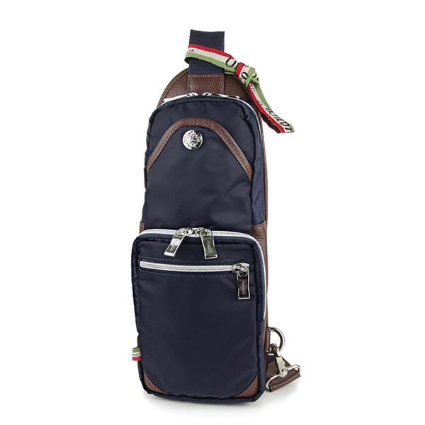オロビアンコ ウエストバッグ・ボディバッグ Orobianco GIACOMIO 13-H 12 バッグ ナイロン NYLON ジャコミオ メンズ BLU SCURO(ブルースクーロ) ネイビー スリングバッグ ロゴプレート カジュアル【 送料無料】