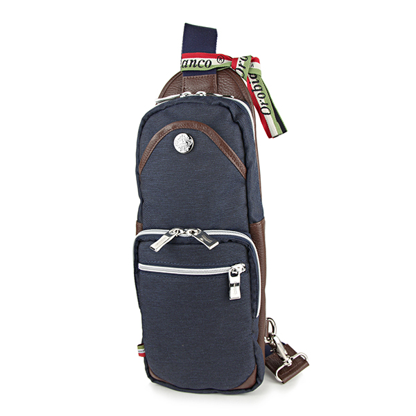 オロビアンコ ウエストバッグ・ボディバッグ Orobianco GIACOMIO 13-H 14 バッグ ジーンズ JEANS ジャコミオ メンズ JEANS DARK(ジーンズダーク) ブルー系 青 スリングバッグ ロゴプレート カジュアル【 送料無料】