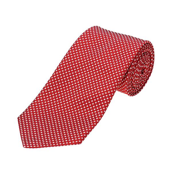 ポールスミス ネクタイ PAUL SMITH 552M AX53 25 ブランド小物 シルクタイ SILK TIE 8CM BLADE メンズ RED レッド 赤 星柄 スタードット ビジネス【 送料無料】