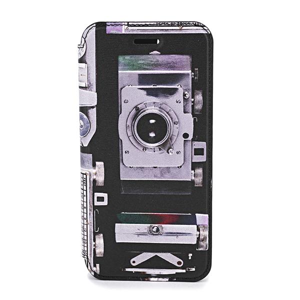 【ポイント5倍★2/24(日)23:59まで】ポールスミス iPhone6/6S/7/8 スマートフォンケース PAUL SMITH M1A 5818 A40290 79 ブランド小物 カメラプリント CAMERA PRINT IPHONE WALLET CASE ユニセックス BLACK ブラック 黒/マルチ 手帳型 スマホケース アイフォン6/6s/7/8 メン