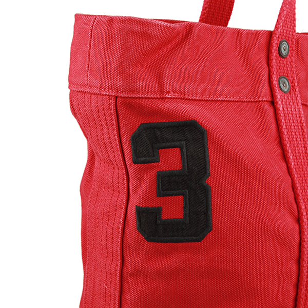 Polo Ralph Lauren tote bag POLO RALPHLAUREN 405532853 001 bag pony BIG PONY  BIG PONY TOTE unisex PARK A RED (Parker led) Red Red embroidered logo B4  size ...