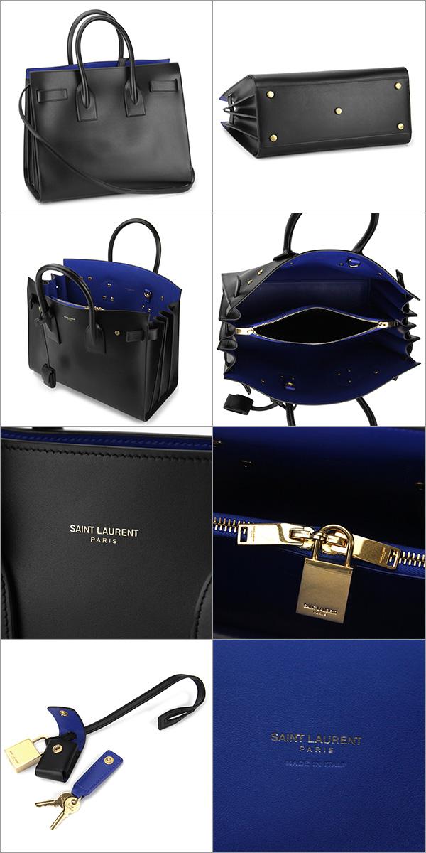 【最大2000円OFFクーポン配布中★8/23(金)14:00まで】サンローラン ハンドバッグ SAINT LAURENT 378299 BX62J 1007 バッグ CLASSIC SMALl SAC DE JOUR BAG レディース BLACK/BLUE ブラック/ブルー【 】