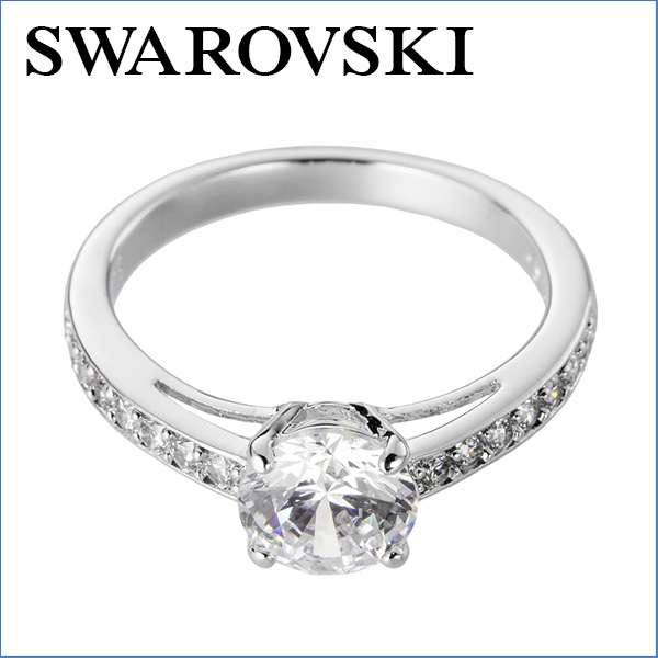 114c0d612a91 Swarovski ring SWAROVSKI 5032920 accessories ATTRACT ROUND Womens WHITE  white clear round Crystal pavé gorgeous gift flower or glitter