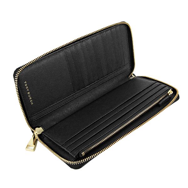 e5e300dcd6c6 細かな型押しが施されたカーフレザーにゴールドトーンのメタルロゴがエレガントなアクセントになった大きめシルエットの長財布です。180度開閉するジップアラウンド  ...