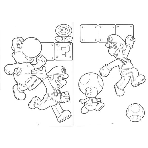 楽天市場スーパーマリオ B5 キャラクター ぬりえbrucke