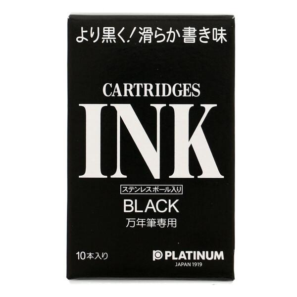 プラチナ万年筆 デスクペン 高級な ストアー 万年筆用 カートリッジインク ブラック SPSQ-400#1 #1 メール便発送 - SPSQ-400 送料無料※600円以上