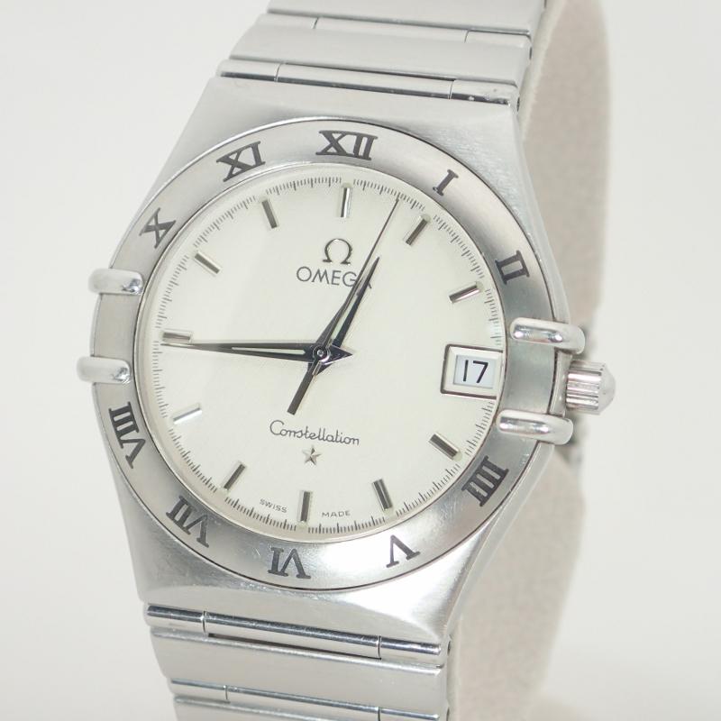 オメガ【OMEGA】SSコンステレーションメンズクォーツデイト腕時計白文字盤【中古】