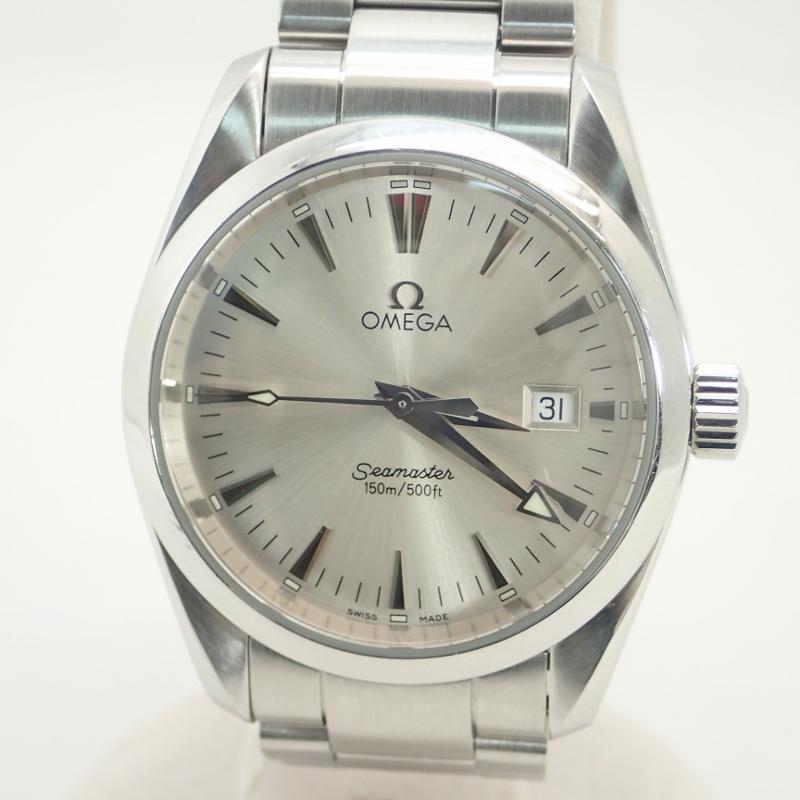 オメガ【OMEGA】SSシーマスターアクアテラメンズクォーツ腕時計シルバー文字盤 *2517.30【中古】