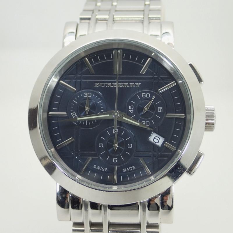 バーバリー【BURBERRY】SSヘリテージメンズクォーツ腕時計*BU1360【中古】