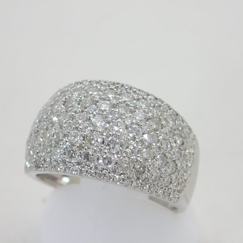 PT900ダイヤモンド2.00ctパヴェダイヤプラチナリング13号【中古】2カラット