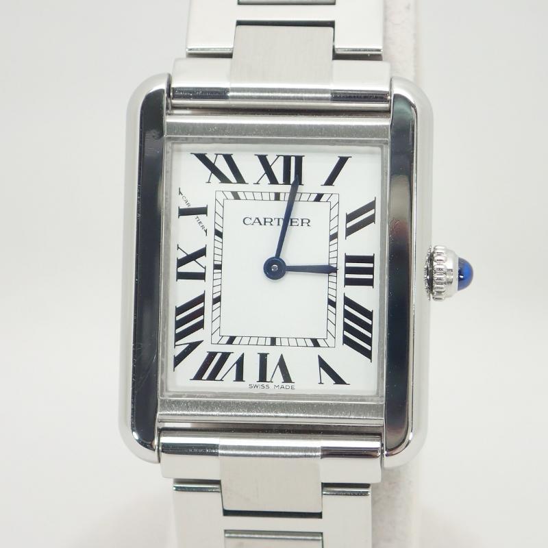 カルティエ CARTIER タンクソロSMSS*W5200013腕時計レディースクォーツMGqVpLSUz
