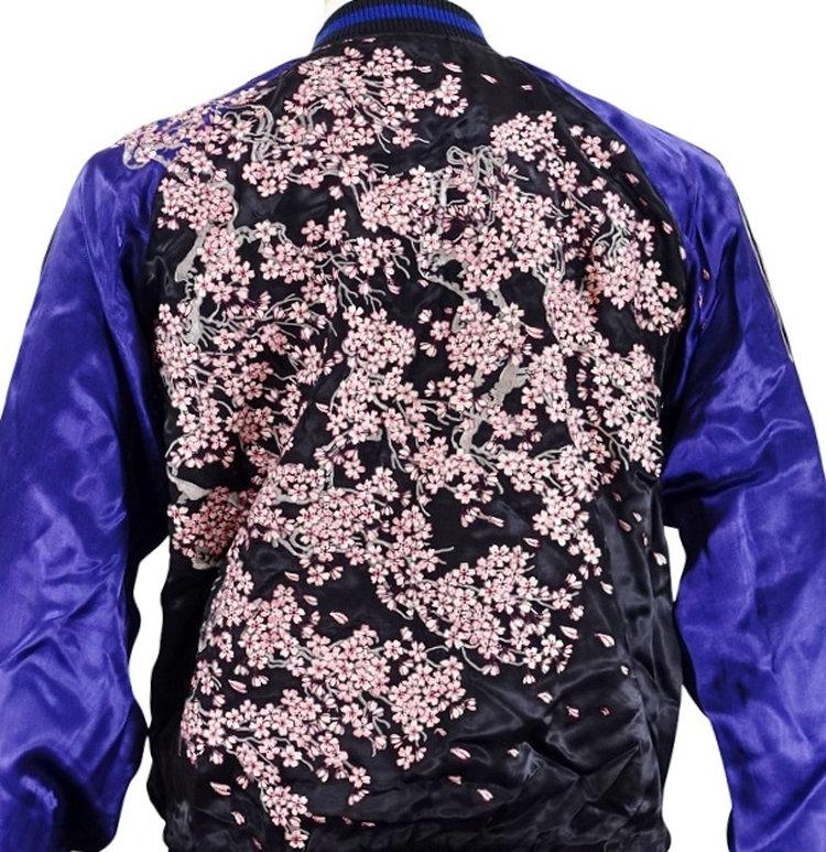花旅楽団 はなたびがくだんスクリプト桜スカジャン SSJ-521 和柄 和