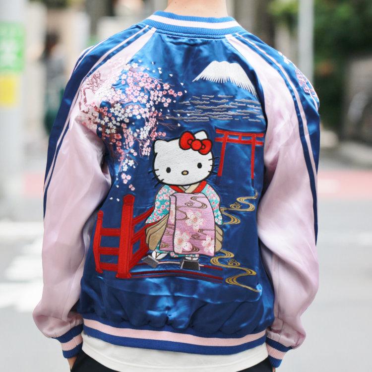 ハローキティ 刺繍スカジャン HKSJ-001 花魁キティ サンリオ 和柄
