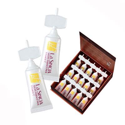 お得な6箱セット ラシンシア ナイトエッセンスパック ビタミンC 1ml×15本(1ヶ月分)夜用パック